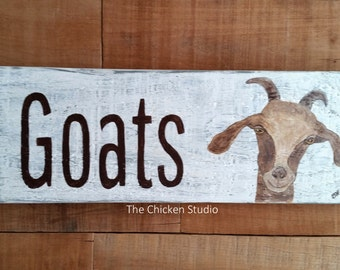 Goat Sign, Farm sign, Goat decor, indoor outdoor, Modern Rustic, Farmhouse, gift, Goat lovers