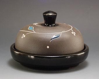 Handmade butter dish, Butter dish, Ceramic butter dish, Pottery butter dish, Butter dish with lid, Covered butter dish