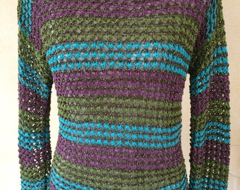 Elegant lace pattern sweater Gr. 38/40