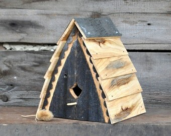 Unique Birdhouses Outdoor Birdhouse Reclaimed Wood Bird House Rustic Birdhouse Wooden Birdhouses Barn Wood Decorative Birdhouses Cedar Pine