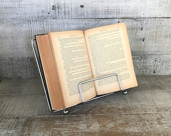 Book Stand Metal Book Holder Metal Easel Silver Display Stand Music Sheet Stand Bible Stand Recipe Stand Art Display Cookbook Holder