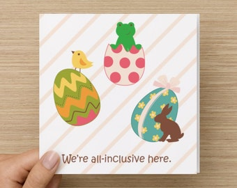 Interfaith Passover/Easter Holiday Card - 100% recycled