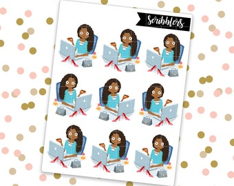 Olivia - Shopping || Scribblers // Limited Edition [24HR ONLY] (Glossy Planner Stickers)