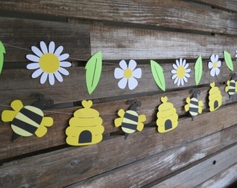 Bumble Bee Party Garlands - Spring Party, First Birthday, Baby Shower