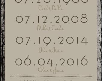 Custom Anniversary/Wedding Print
