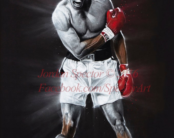 Muhammad Ali - Muhammad Ali Art Print - The Great Ali - Wall Art- Man Cave Art - Boxing Decor - dorm decor - Boxing - Gift Idea - Sports Art