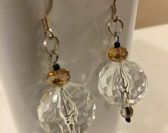 Crystal Clear Globe Earrings
