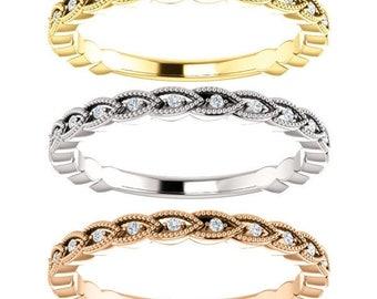 1/6 Carat G (color) VS2 (clarity) Designer Style Diamond Ring in 14k Gold