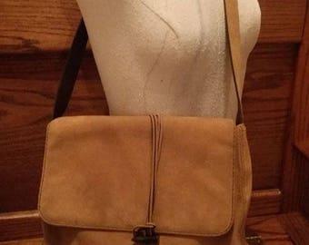vintage, RALPH LAUREN, LAUREN, brown suede purse, satchel, handbag, bag, clothing, accessories