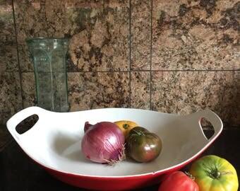 Copco Michael Lax Red Paella Pan Copco Enamel Copco Cookware Denmark Enameled Cast Iron Paella Pan Michael Lax Red Copco