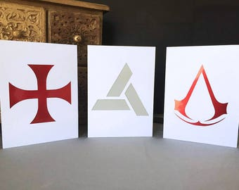 Assassin's Creed   Abstergo   Templar Greeting Cards   Nothing is True   Everything is Permitted   Ezio Auditore   Altair   Birthday   Gift