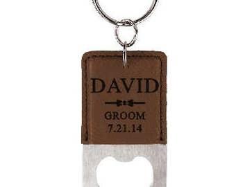Groomsmen gift, Leather, Bottle Opener, Groomsmen Bottle opener, Personalized bottle opener, Groomsmen, Best Man, Father of the groom gift,