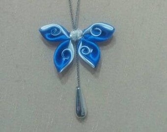 Cloth Butterfly Necklace
