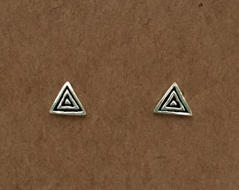 Sterling Silver Triangle Stud Earrings | Stud Earrings | Triangle Earrings | Sterling Silver | Minimalist | Geometric Earrings |