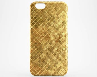 Gold iPhone 7 Cover Geometric iPhone 6S Case Galaxy Case Golden iPhone SE Cover iPhone 7 Plus iPhone 4-5 Case iPhone SE, Style iPhone Case