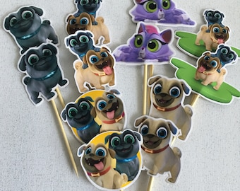 Puppy Dog Pals Cupcake Toppers (inspired)