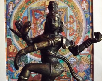 ancient statuette of Indian dancer, dancing Dakini