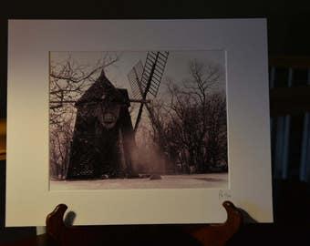Windmill, sepia color, Cape Cod