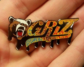 Griz Bear Heady Hat Pin