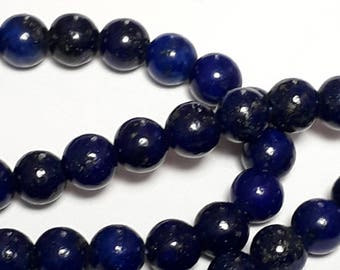 15pcs Lapis Lazuli Beads (Grade B) - Natural Lapis Lazuli - Blue Gemstone Beads - Natural Gemstones - 4mm Beads - B59322
