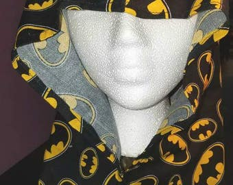Superhero Festival hood, Superhero Rave hood, Batman hood, DC superhero hood