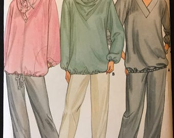 Butterick 3035 - 1980s Maternity Jacket, Top, and Pants - Size 14 16 18