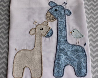 Baby Applique Machine Embroidery Design Giraffes