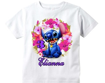 Stitch Birthday Shirt Youth Toddler Infant Adult  p316