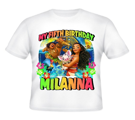 Disney Moana Birthday Party Shirts