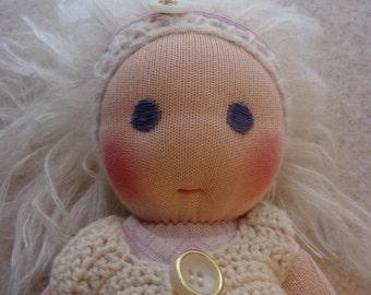 """13"""" Doll, Waldorf Doll, Sock Doll, Wool Doll"""