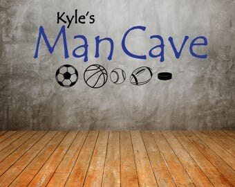 Vinyl Wall Decal - Man Cave - Home Decor - Wall Art For a Manly Man's Man Cave