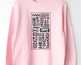African Print Clothing, African Clothing, Crewneck Sweater, African Inspired Sweater, Unisex, Tribal Print Jumper, Sweater for her and him