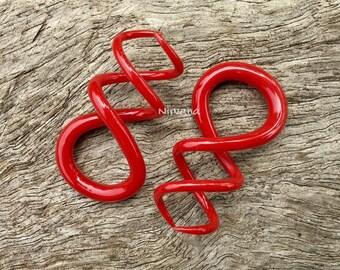 """Burgundy Cork Screw Spirals 10g 8g 6g 4g 2g 0g 00g 7/16"""" 1/2"""" 9/16"""" 5/8""""  2.5 mm 3 mm 4 mm 5 mm 6 mm 8 mm 10 mm 12 mm 14 mm 16 mm"""