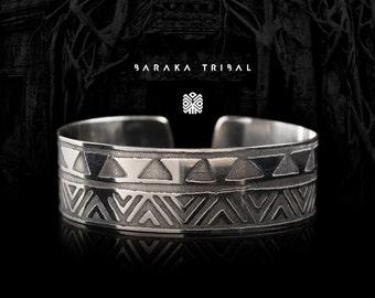 Etched Tribal Bracelet