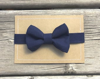 Navy Bowtie, Baby Boy Bowties, Toddler Bowties