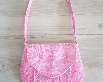 Pink marble Little Miss Shoulder Bag - A great grab and go purse or little girls 'just like mummy' bag