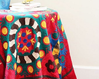 New! Vintage colorful  handmade suzani 20%off