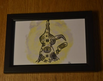 """Mimikyu Mandala Artwork 4x6"""""""