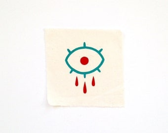 Screen Printed Patch - Bloody Tears