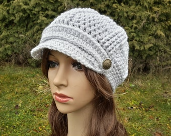 Crochet Women Hat, Crochet Newsboy Hat, Women Cap Hat, Newsboy Hat, Woman Newsboy  Hat, Womens Beanie, Women Gift, Handmade Hat, Women Gift