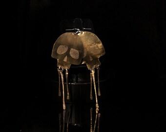 JAKE-handcrafted brass skull Earrings