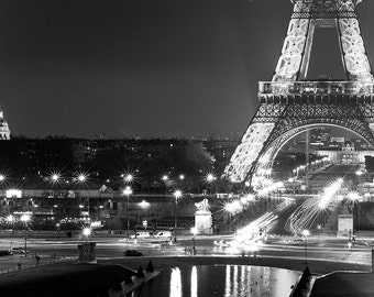 Eiffel Tower Print - Eiffel Tower Wall Art, Paris Print, Eiffel Tower Black White - Eiffel Tower Photography Print