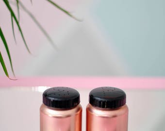 Pair of Vintage Copper//Rose Gold Colored Salt and Pepper Shakers - GORGEOUS