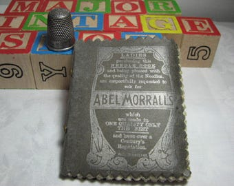 Victorian Abel Morrall needle book and thimble