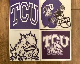 Texas Christian University TCU Coasters (Set of 4)