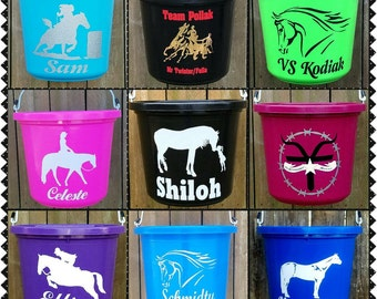 Gifts for horse girls horse barn equestrian gifts horse tack custom equine personalized horse buckets gifts for horse negle Image collections