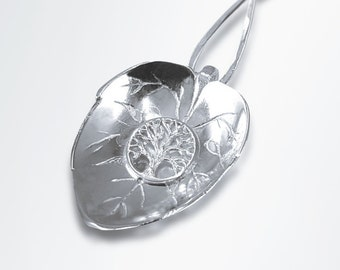 Girlfriend Necklace Gift, Tree of Life Silver Necklace, Necklace Gift  for Girlfriend, Statement Necklace, Sterling Silver, Graduation Gift