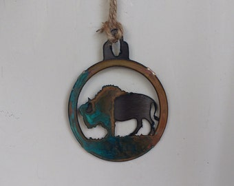Patina Buffalo Ornament