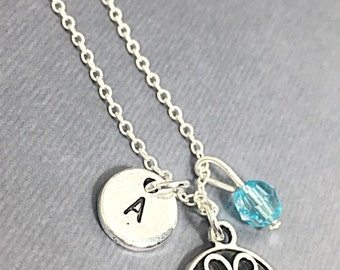 Sterling Bridesmaid Necklace, Customized Filigree Necklace, Filigree Charm, Bridesmaids Gifts, Personalized Filigree Jewelry,Customized gift