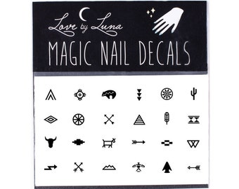 Tribal Nail Decals / Southwestern Nail Decal / Boho Nail Decals / Native American Decals / Tribal Symbol Nail Decals / Nail Decals